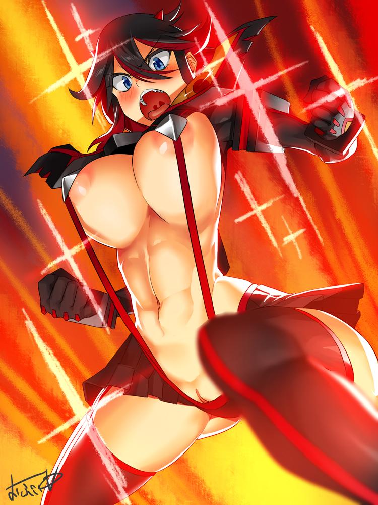 ryuko matoi la kill kill Highschool of the dead danbooru