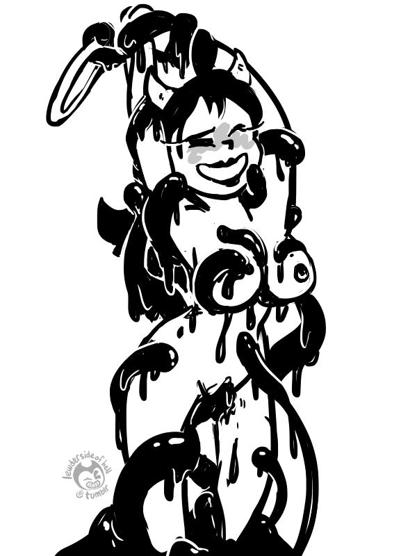 and the ink machine female bendy Ban from nanatsu no taizai