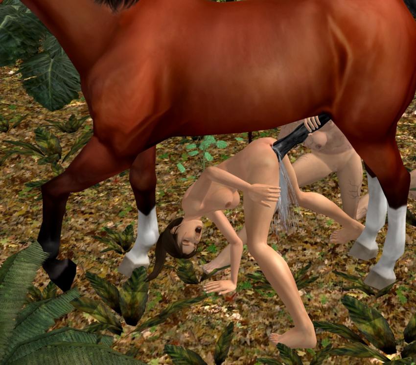horse with croft 3d lara Dakara boku wa h ga dekina