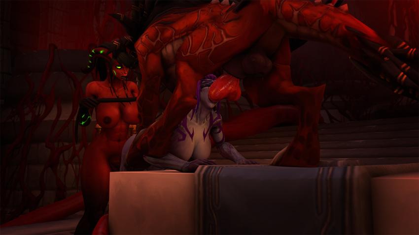 elf demon hunter blood elf or night Kingdom hearts aqua