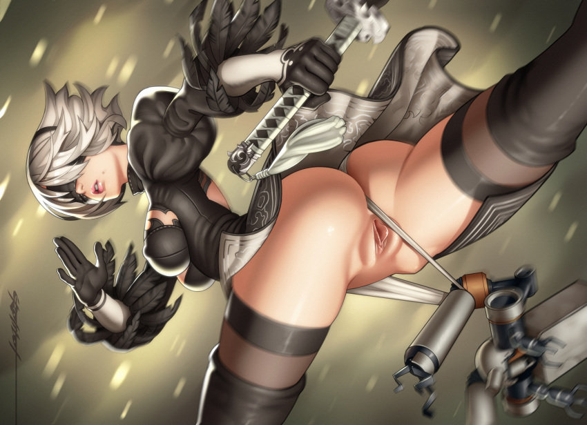 automata issue blade nier yorha Land before time
